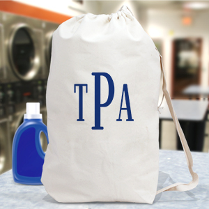 Block Monogrammed Laundry Bag