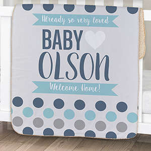 Wholesale baby gifts baby gifts wholesale baby gift dropship personalized polka dots baby sherpa blanket negle Choice Image