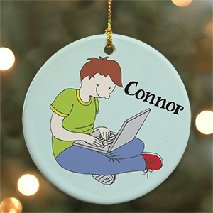Personalized Ceramic Laptop Ornament