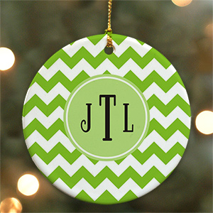 Monogram Madness Ceramic Ornament