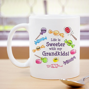 Life Is Sweeter Personalized Coffee Mug