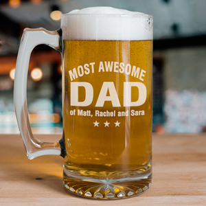 Most Awesome Engraved Glass Mug