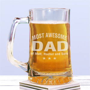 Engraved Most Awesome Glass Mug