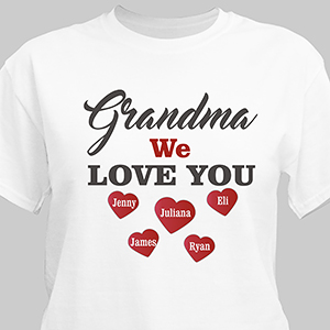 Personalized We Love You T-shirt for Her