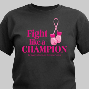 Fight Like a Champion Breast Cancer Awareness T-Shirt