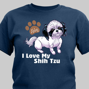 Personalized I Love My Shih Tzu T-Shirt