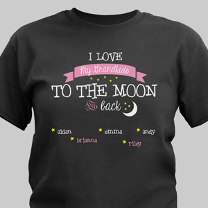 To the Moon Personalized T-shirt