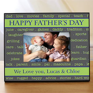 Personalized Happy Father's Day Printed Frame