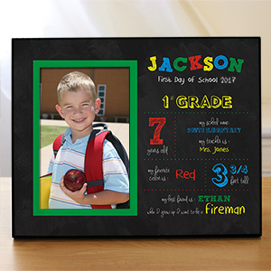 Personalized His First Day of School Picture Frames