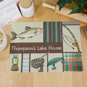 Personalized Fisherman Cutting Board