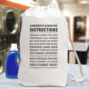 Personalized Washing Instructions Laundry Bag