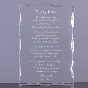 Personalized Mom Poem Acrylic Keepsake