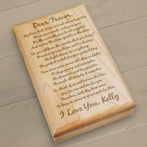 To My Love... Personalized Wooden Valet Box