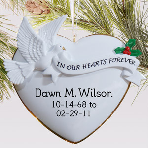Memorial Forever heart Ornament