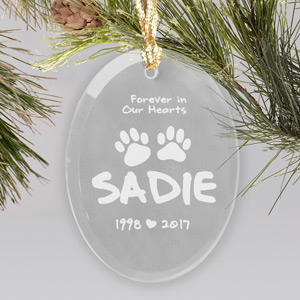 Forever in heart Pet Sympathy Ornament