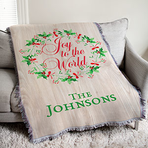 Personalized Joy To The World Throw