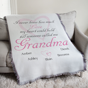 Personalized How Much Love Tapestry Throw