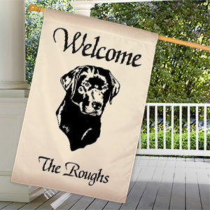 Personalized Dog Breed Welcome House Flag