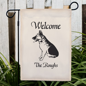 Welcome Dog Breed Personalized Garden Flag