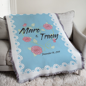 Personalized Couples Tapestry Throw