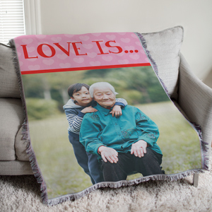 Love Is...Photo Tapestry Throw