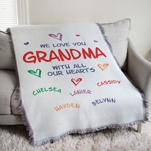 Personalized We Love You Tapestry Throw