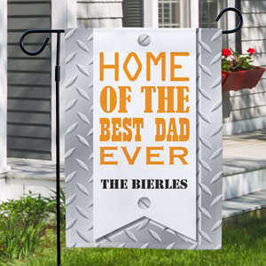 Best DAD Personalized Garden Flag