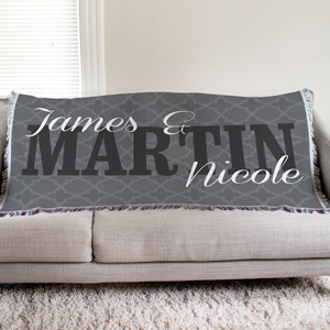 Personalized Couple's Tapestry Throw