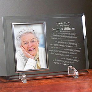 In Loving Memory Personalized Beveled Glass Picture Frame
