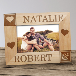 Personalized Just the Two of Us Wood Frame