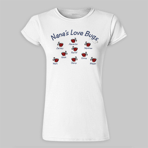 Love Bugs Personalized Womens Fitted T-Shirt