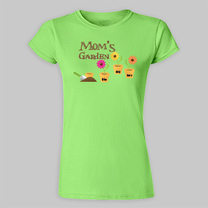 Garden Personalized Womens Fitted T-Shirt