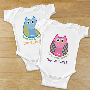 Owl bodysuit for baby