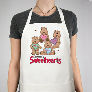Personalized Sweetheart Bear Valentine Apron