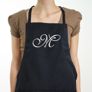 Embroidered Initial Apron