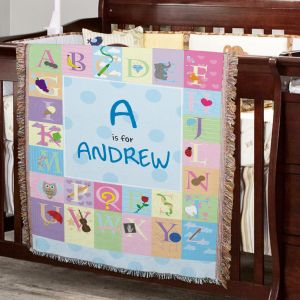Personalized Alphabet Tapestry Throw