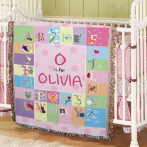 Personalized Alphabet Baby Tapestry Throw