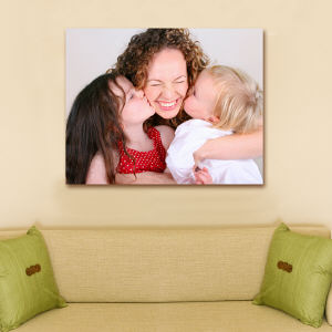 Personalized Photo Canvas with Message