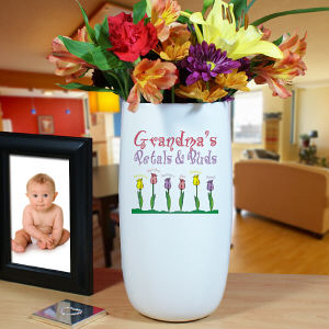 Personalized Petals and Buds Vase