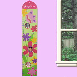 Custom Printed Flower Growth Chart