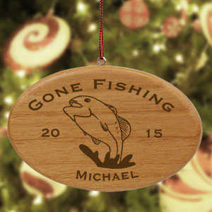 Engraved Fishing Ornament