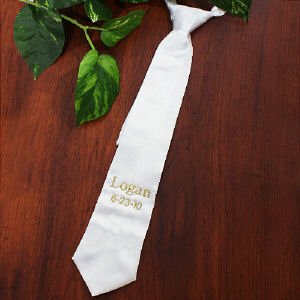 Embroidered First Communion Tie