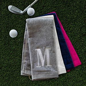Embroidered initial Golf Towel