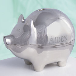 name Silver Piggy Bank