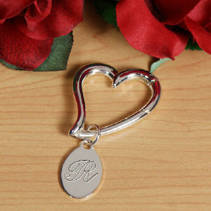 Engraved Heart Keychain