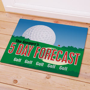 Personalized Golf Forecast Doormat