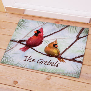 Personalized Cardinals Doormat