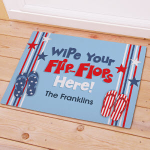 Personalized Wipe Your Flip Flops Here Summer Doormat
