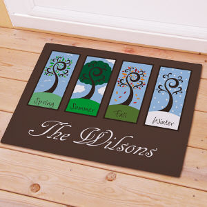 Personalized Four Seasons Welcome Doormat