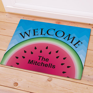 Personalized Watermelon Welcome Doormat
